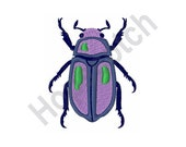 Purple Beetle - Machine Embroidery, Embroidery Designs, Embroidery Patterns, Embroidery Files - 4 X 4, Bug, Insect