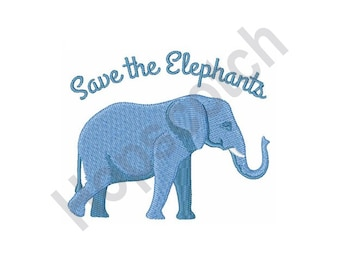 Save The Elephants - Machine Embroidery Design 02f97000f