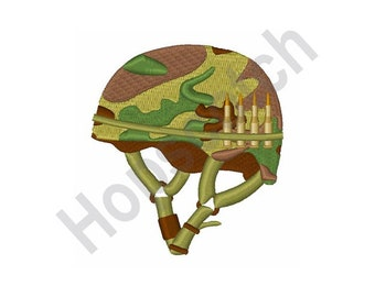 239ee05584e Combat Helmet Embroidery Pattern - Machine Embroidery Design