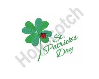 items similar to clover st patrick s day machine embroidery design
