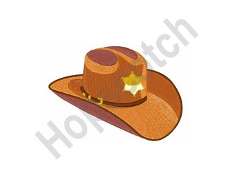 1341fc5d3be Sheriff Hat - Machine Embroidery Design - 4 X 4 Hoop