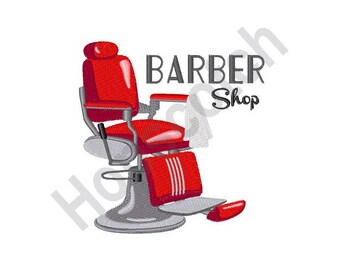 Barber Shop Chair - Machine Embroidery Design
