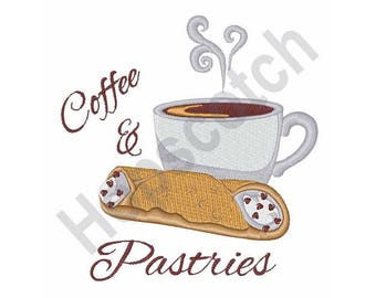Coffee And Pastries - Machine Embroidery Design