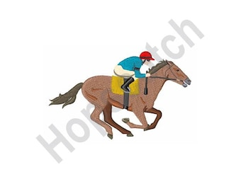 Kentucky Derby Horse Jockey- Machine Embroidery Design