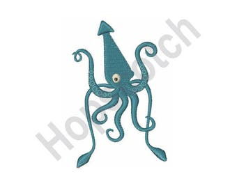 Giant Sea Squid - Machine Embroidery Design