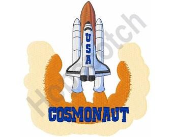 Shuttle Cosmonaut - Machine Embroidery Design - 5 X 7 Hoop, Space Ship, Astronaut, Cape Kennedy