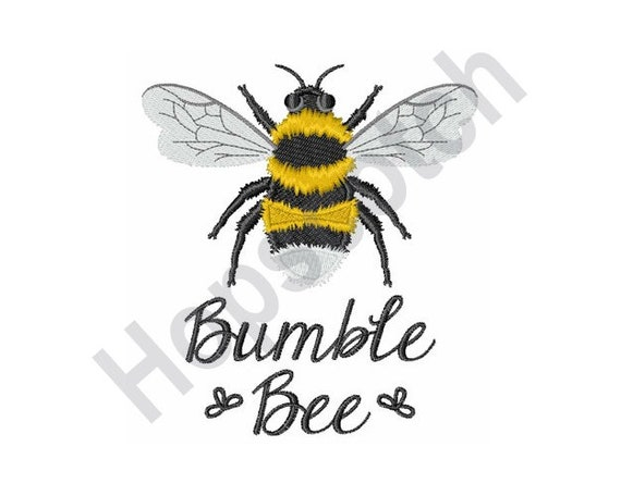 Bumble Bee Embroidery Pattern Machine Embroidery Design Etsy