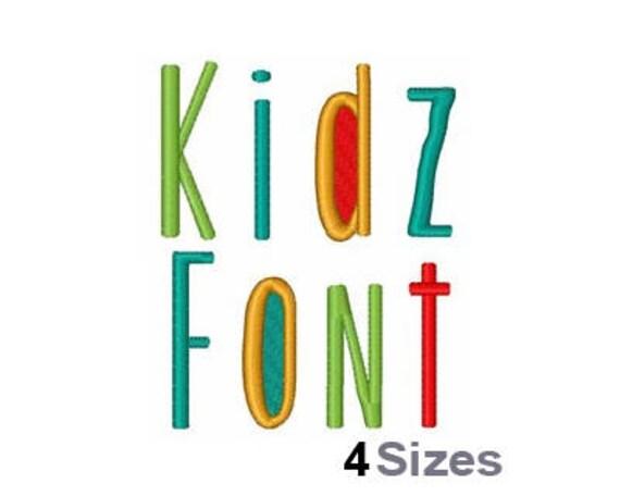 Kidz Schrift Maschine Stickmuster 4 Größen Beschriftung   Etsy