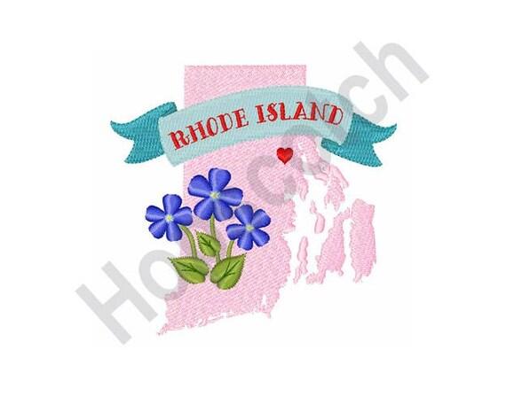 Rhode Island Machine Embroidery Design 4 X 4 Hoop State Etsy