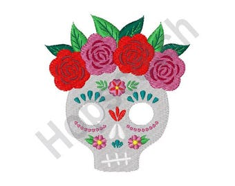 Skull - Machine Embroidery Design, Day of the Dead