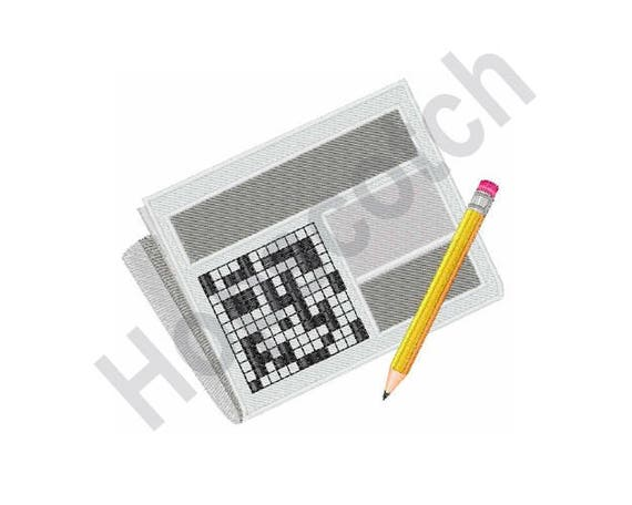 Crossword Puzzle Machine Embroidery Design Etsy Impressive Sewing Machine Part Crossword