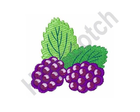 Blackberries vine machine embroidery design | etsy.