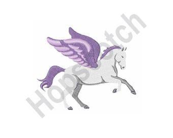 Pegasus - Machine Embroidery Design - 4 X 4 Hoop, Mythology, Flying Horse
