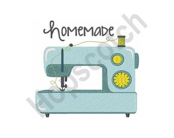 Homemade - Machine Embroidery Design, Sewing Machine