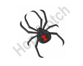 Black Widow Spider - Machine Embroidery Design