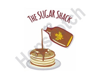 Sugar Shack - Machine Embroidery Design, Pancakes, Syrup