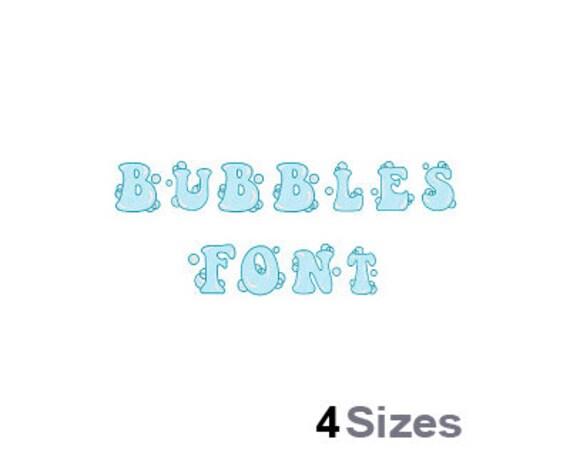 Blasen Schrift Maschine Stickmuster 4 Größen   Etsy