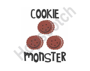 Cookie Monster - Machine Embroidery Design, Cookies