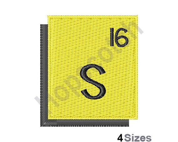 Periodic Table Sulfur Machine Embroidery Design Sulfur Etsy