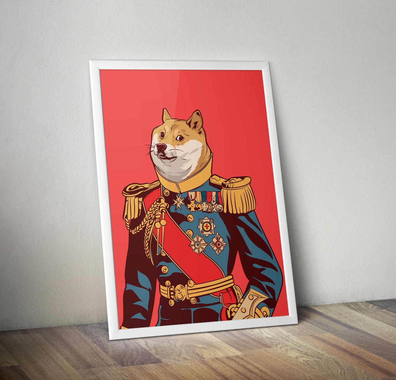 Doge meme poster Aristocrat Dog internet modern pop art ...