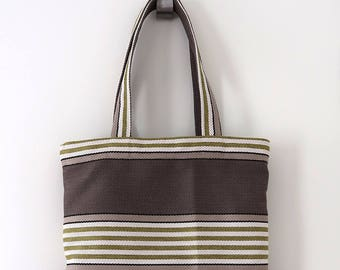 Striped tote bag, Shopping bag, Book bag, Grocery bag