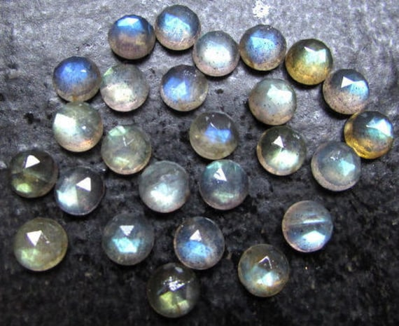 blue chalcedony Round rosecut gemstone 25 pieces 6mm Blue Chalcedony Rosecut Round Gemstone Blue Chalcedony Rosecut Round Cabochon