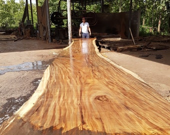 wood slab table etsy