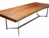 """Afzelia Dining Table 123"""" x 51"""" - 47"""" - 48"""", 4"""" Thickness"""
