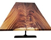 Acacia Wood Straight Cut Book Matched Table 84″ x 43 – Monkey Pod