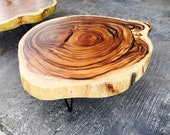 Live Edge Coffee Table, Acacia Wood Table, Epoxy Resin Table | Solid Wood Coffee Table, Round Live Edge Dining Tables, Rustic Wood Tables