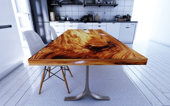 info for 6bf85 bdf86 Straight Cut Dining Table, Acacia Wood Table, Epoxy Resin Table | Reclaimed  Wood Table, Farmhouse Dining Table, Natural Wood Furniture