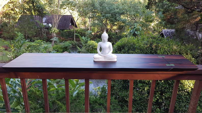 Antique Macassar Ebony Wood Console Table  Unique Console image 0