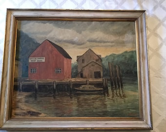 1958 John Page Framed Painting on Board