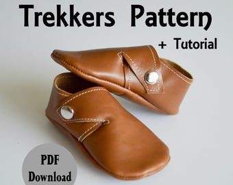 INSTANT DOWNLOAD Leather Baby Shoe Pattern // Leather Moccasin Pattern // Moccasin Pattern Download // Shoe Pattern // Baby Moccasins //