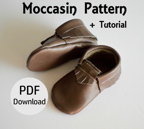 INSTANT DOWNLOAD Leather Baby Moccasin Pattern Leather Etsy Magnificent Baby Moccasins Pattern