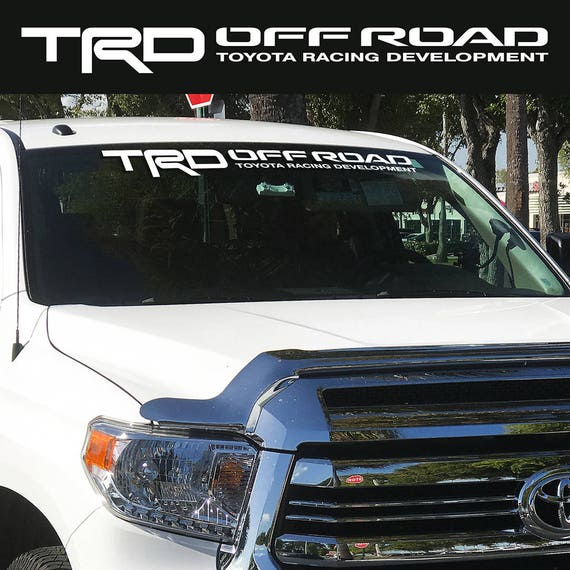 Toyota TRD Off Road Windshield Tacoma Tundra Vinyl Decal Truck Racing Develop 1