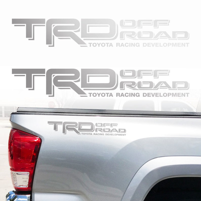 SET Toyota Tundra Tacoma Truck TRD Off Road Decals Vinyl Stickers 1 PAIR