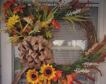 Items Similar To Welcome Fall Front Door Sign Fall Decor
