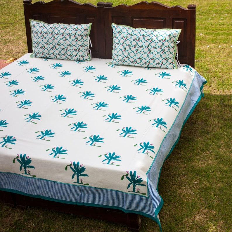 decf7d3906 Natural Cotton Flat Bed Sheet Set of 3 Bedroom Decor King | Etsy