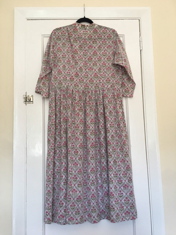 Women's hippy vintage block printed dress Indian p