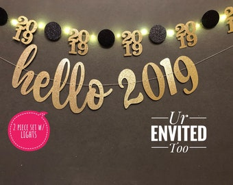happy new year party banner new years eve banner hello 2019 banner new years party supplies hello 2019 cheers to 2019