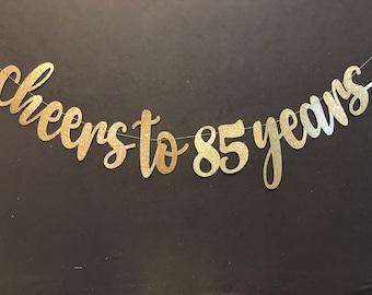 85th Birthday Banner