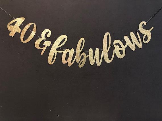 40 FABULOUS BANNER 40th Birthday Banner