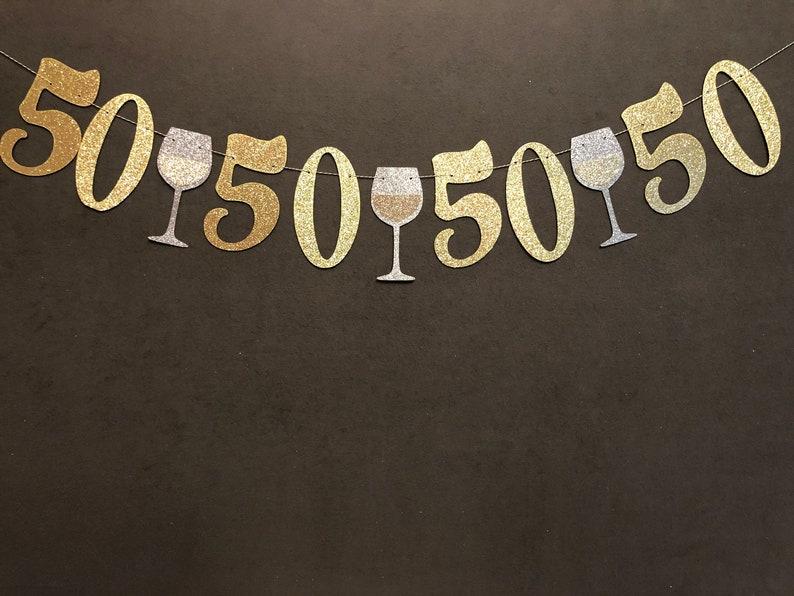 50 Birthday Decorations 50th Banner50th