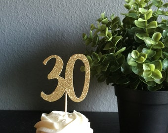 30th  Birthday Cupcake Toppers, 30th Birthday