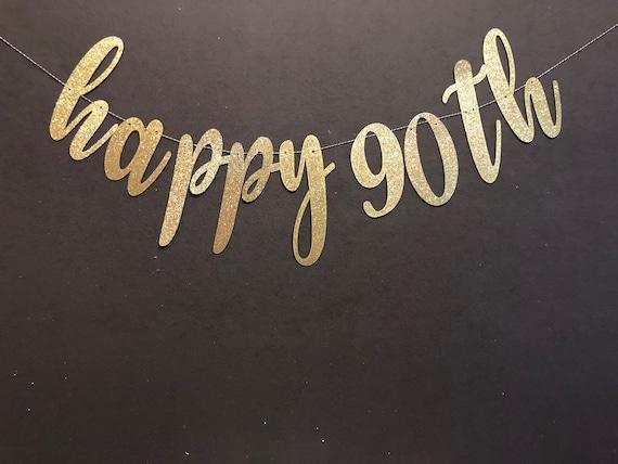 Happy 90th Banner Birthday