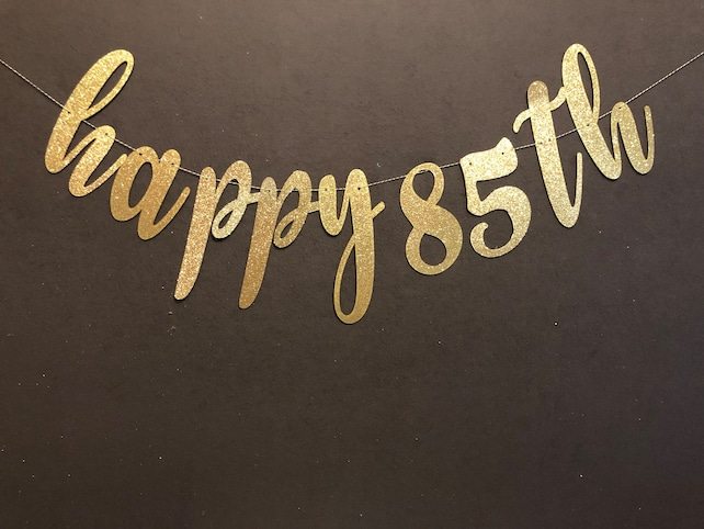 Hapoy 85th Banner Birthday Happy Sign Decorations Anniversary Banners