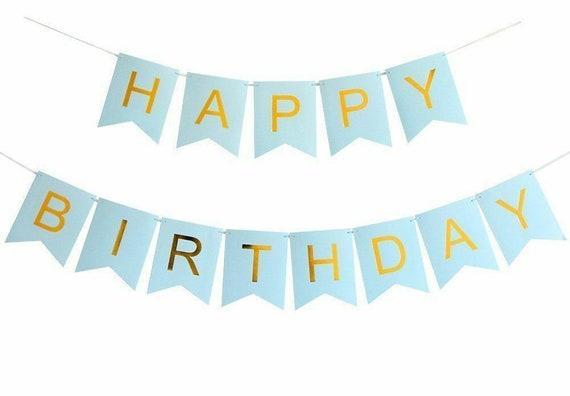 Happy Birthday Bunting Banner Pastel Hanging Letters Party Decoration Garland UK