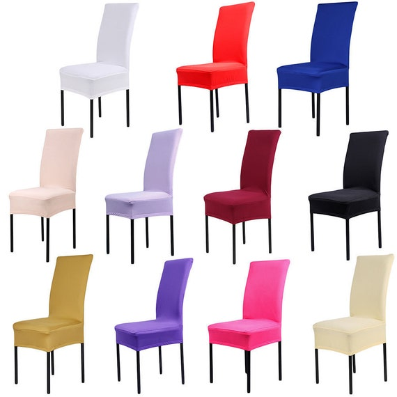Chair Covers Spandex Stretch Wedding Banquet Party Dining Room Seat Slipcovers