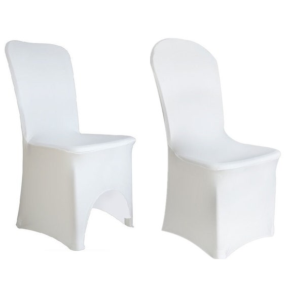 Remarkable White Spandex Lycra Chair Cover Flat Arched Front Covers Wedding Party Decor Andrewgaddart Wooden Chair Designs For Living Room Andrewgaddartcom